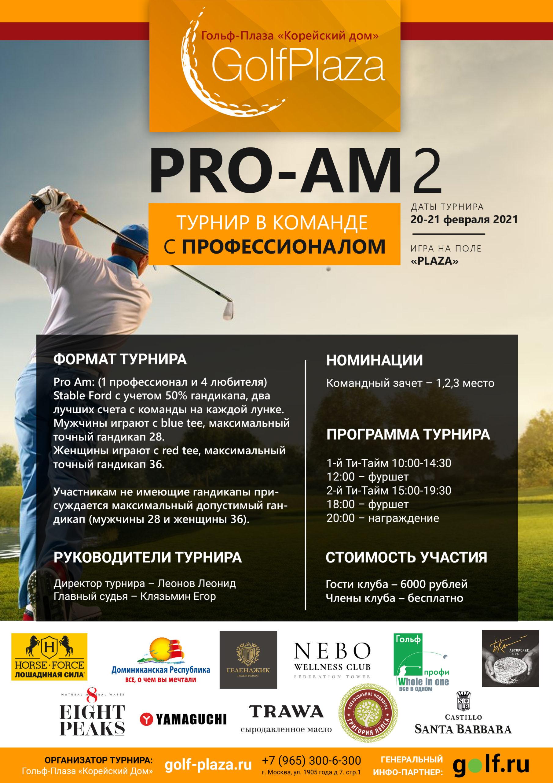 PRO-AM 2 Турнир в команде с профессионалом